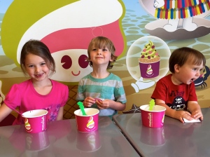 Tuesday Menchie's hosted a fundraiser for preschool, so we of course had to get some yummy ice cream!