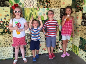 a fun and hot day at the zoo with friends! we love waterfall junction!