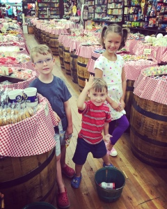 a little candy stop while shopping for daddy's father's day present at the mast general store downtown.