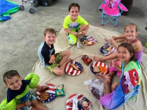 a picnic lunch on the beach!