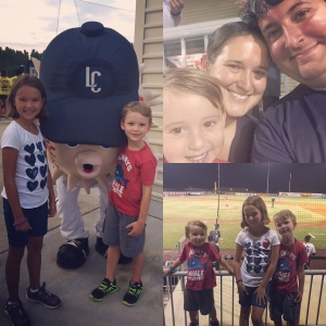 The kids got free tickets to the Blowfish game for completing their summer reading, and we had a great time cheering on the home team!
