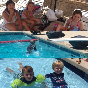 swimming with some of our sweet friends! we were very thankful for the pool this summer!