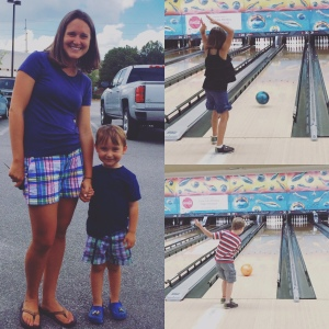 a little twinning and a fun morning bowling with friends! praise the lord for the a/c!