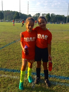 sweet friends at their soccer game!