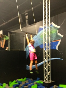 she finally did the trapeze! way to go, sarah ann!