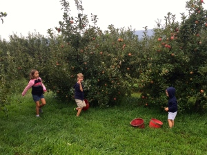 and a few more pictures from our apple picking trip...