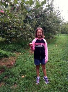 our pretty princess enjoying an apple!