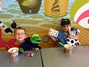 menchie's date with the boys while the princess was at hip hop class!