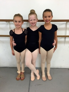 sweet girls auditioning for the nutcracker together!