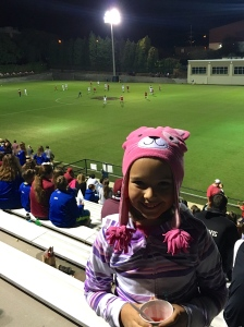 My soccer girl loved watching the Carolina girls play! And they are the SEC champs!