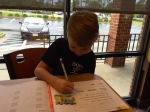 ...and enjoying a little breakfast--school--date with my little middle!