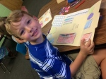 co-op is our favorite! here is reece in his math lap booking class!