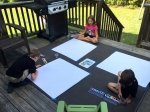 this week in art we channeled our inner monet and painted outside...