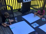 it was a beautiful afternoon to do our art on the back deck!