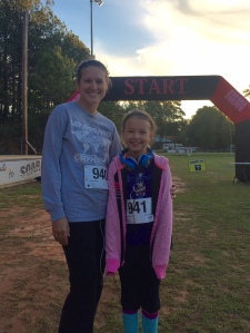 sarah ann ran her first 5k with me! she did awesome!