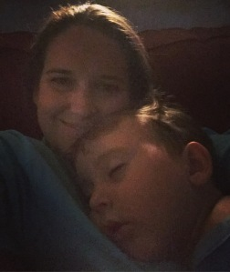 i definitely didn't mind that this sweet boy couldn't make it through movie night!