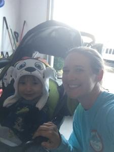 mommy's little running buddy