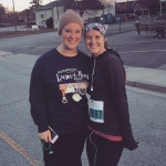 it was cold and hilly, but we completed our first 10k!!