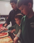 pizza making sure is serious business