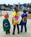 my three favorite superheroes have come to save the day!!