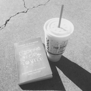 my first book of the year, a sunny afternoon outside, and sonic sweet tea!