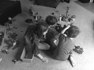 """a morning full of toys--princesses, knights, castles, and """"trups"""""""
